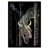 Engraving Art Holographic - Mini Forest Dragon