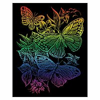 Engraving Art Rainbow - Butterflies