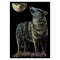 Engraving Art Holographic - Mini Lone Wolf