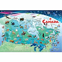 Map Of Canada (48 pc Floor Puzzle) Cobble Hill