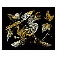 Engraving Art Gold - Baby Dragon