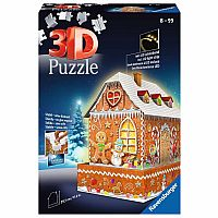 3D Gingerbread House Night Edition (216 pc 3D) Ravensburger