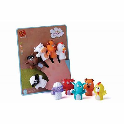 Animal Finger Puppet Set Carded Assorted