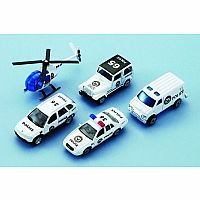 5-pc City Team 3' Police Gift Set Die Ca