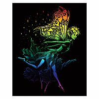Engraving Art Rainbow - Dancing Fairy