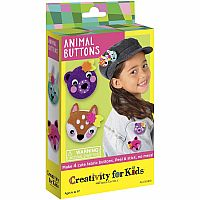 Animal Buttons/epinglettes d'Animaux