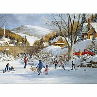 Hockey On Frozen Lake (1000 pc) Cobble Hill