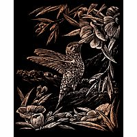 Engraving Art Copper - Hummingbird