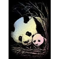Engraving Art Holographic - Mini Panda