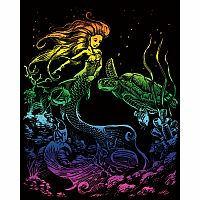 Engraving Art Rainbow - Mermaid