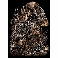 Engraving Art Copper - Mini Kitten & Puppy